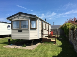 [Holiday caravan for hire, Norfolk]